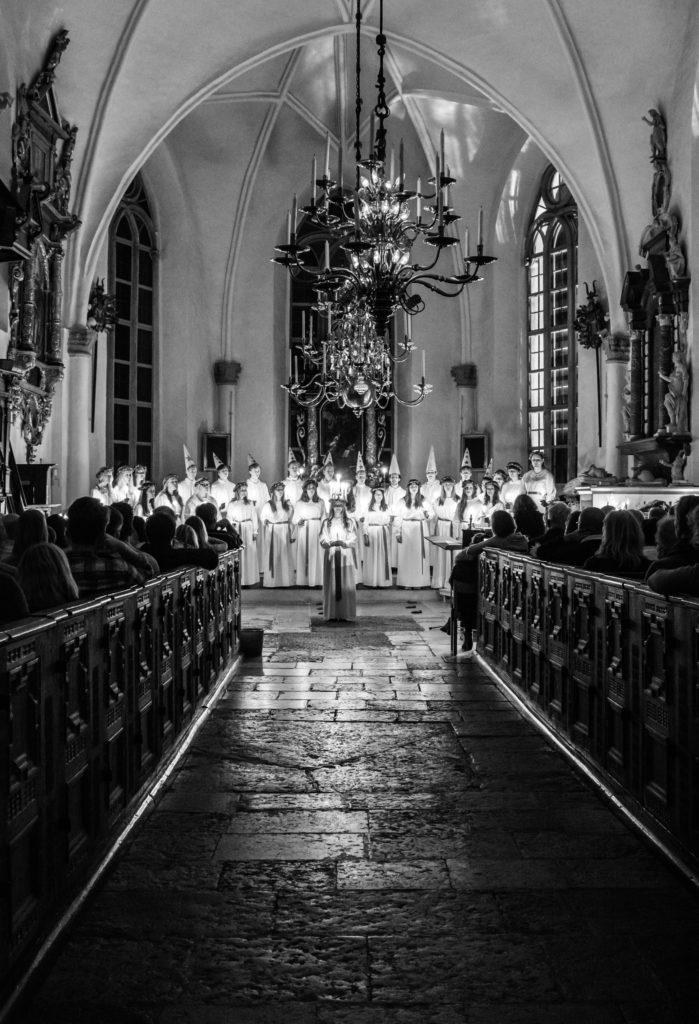 Lucia i Tyresö kyrka, Fotograf: Claes Aaby-Ericsson