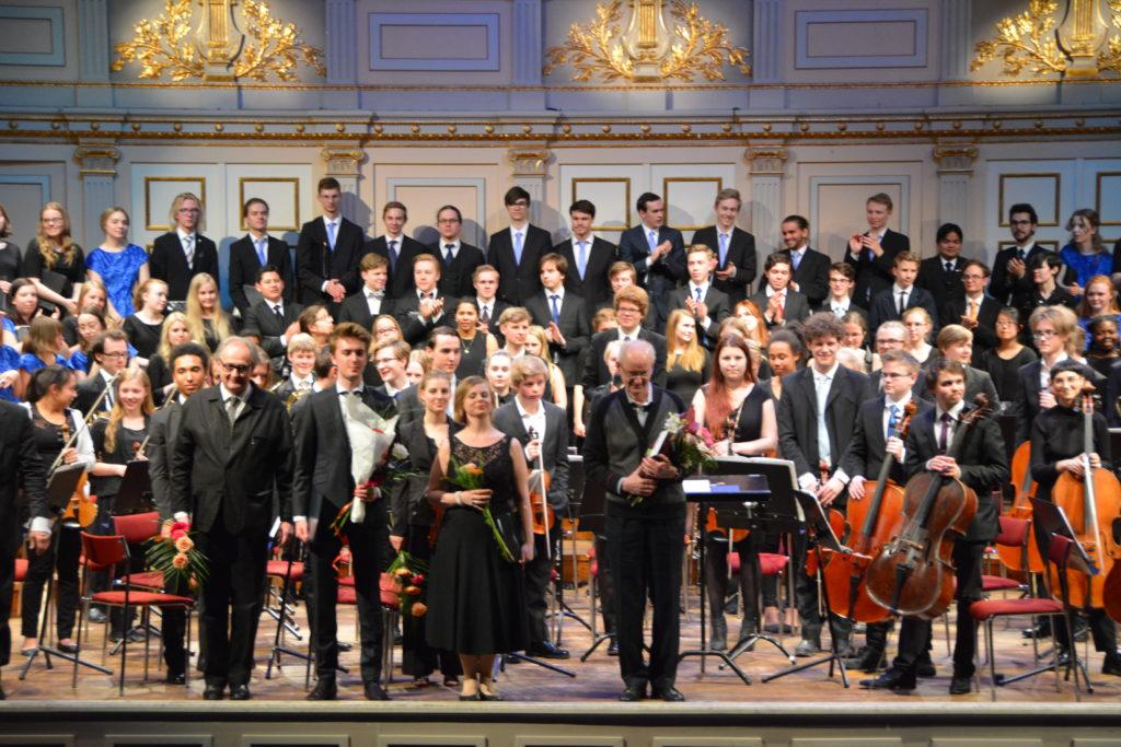 Uruppförande av Sju satser om tid på Musikaliska tillsammans med SUSO och Hägerstens Ungdomskör